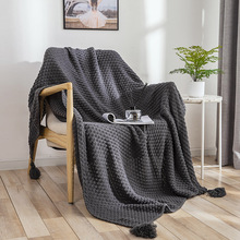 Soft Winter Bed Linen Sofa Cover Bedspread Home Decor Drop Shopping Knitted Throw Blankets For Beds with Tassel Travel Picnic