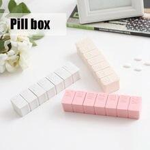 Caixa de pílula de viagem titular medicina semanal armazenamento organizador recipiente de droga tablet dispensador independente treliça caso de pílula de plástico