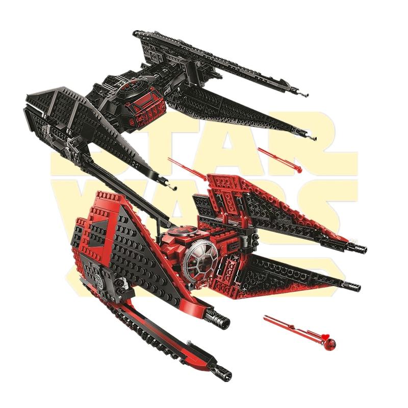 New Star Wars Tie Fighter AT-TE Walker Darth Vader Castle Figure Building Blocks Brick Lepining Toys For Children 75240 75261