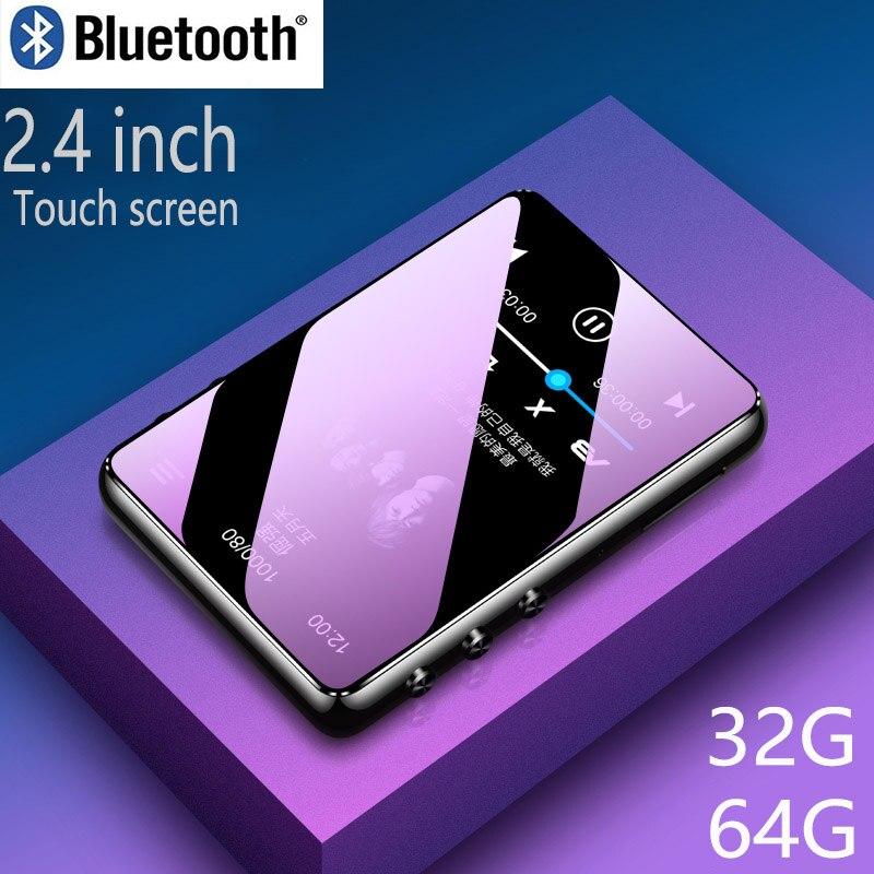 Bluetooth 5.0 lecteur mp3 2.4 pouces plein écran tactile haut-parleur intégré avec e-book FM radio enregistreur vocal lecture vidéo