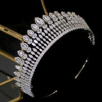 Gioielli Da Sposa di moda di Lusso di Cristallo di Cerimonia Nuziale del Copricapo Femminile Elegante Fiore di Cristallo Corona Accessori Per Capelli Da Sposa Diademi