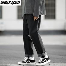 Fashion Jeans Denim-Pants Wide-Leg Oversized Streetwear Harajuku Japanese Singleroad