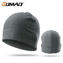 Зимняя теплая шапка для бега с кроликом плюшевая мягкая эластичная