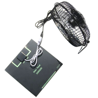 Top Portable Solar Pane With Fan Player Solar Charger Pane Fast Charger USB Fan 6 Inches Fan