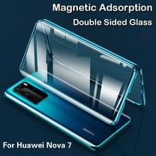 360 Full Magnetic Case For Huawei Nova 7 7Pro SE Honor 30 30 Pro Cover Metal Bumper For Honor V30 V30 Pro 9X Tempered Glass Case 360 full protection case for huawei honor v30 case luxury hard pc shockproof cover for honor view30 pro v30 bumper capa