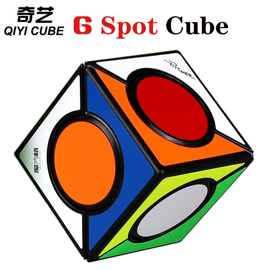 Magic Cube Puzzle QiYi FangYuan 6 Six Spot Speed Cube Square Skew Professional MoFangGe Cube Educational Toys Game