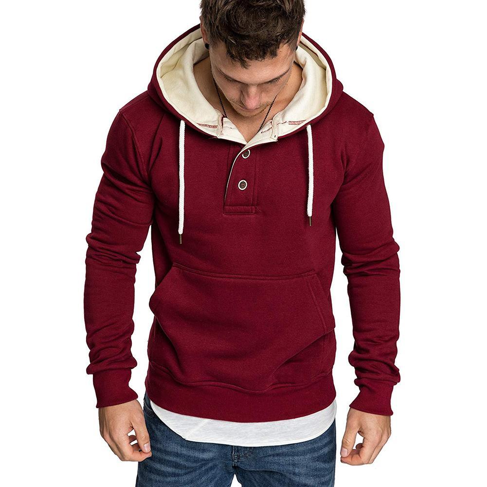 New Hoodies Men 2019 Spring Fashion Tracksuit Sweatshirt Men's Winter Warm Collar Cap Long Sleeves Pullover Sports Sweatshirts