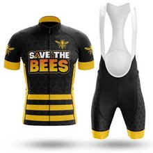 Bike Shirt Jersey-Set Cycling-Clothes Short-Sleeve Men SPTGRVO Summer Outfit Bees Complete