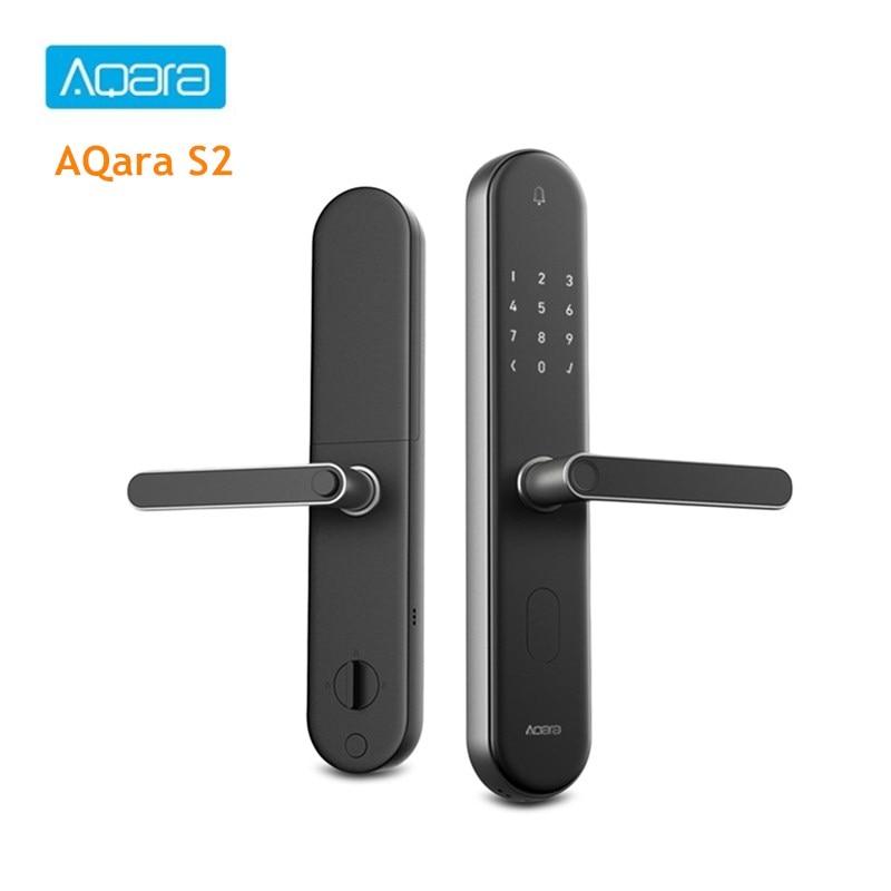 AQara S2 Smart Door Lock Right/Left Hand Fingerprint High Recognition Password Key APP Control Smart Linkage Home Devices
