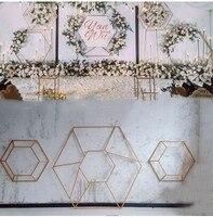 НОВЫЕ геометрические шестигранные Железные украшения для свадебной церемонии