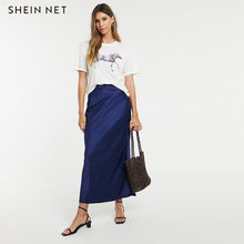 Shein Net Europe And America Fashion Simple Casual-Style Solid Color Crew Neck Loose-Fit Coloured Drawing Horse Printed Design S(China)