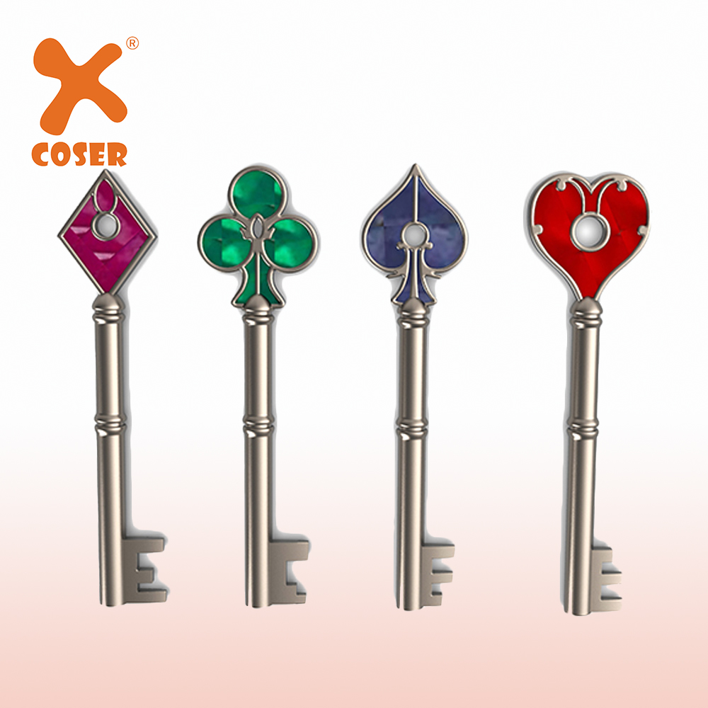 Xcoser Remake RPD Key Set Remake RPD Keys Cosplay Props Cosplay Accessories Halloween Chrismas Gift Collectibles