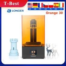Impressora uv paralela da resina 405nm da iluminação do diodo emissor de luz da tela do lcd da elevada precisão da impressora 3d de sla da laranja 30 mais longa com 2k