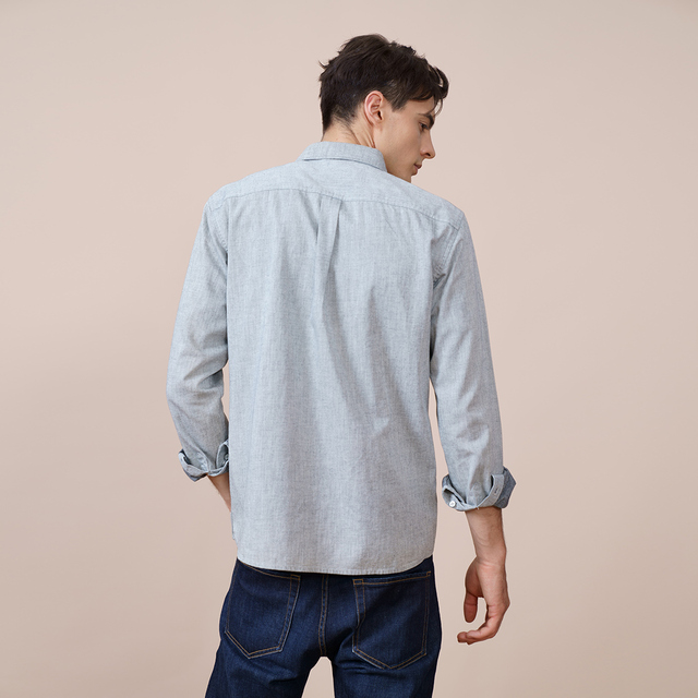 Casual Slim Fit Shirt in light gray