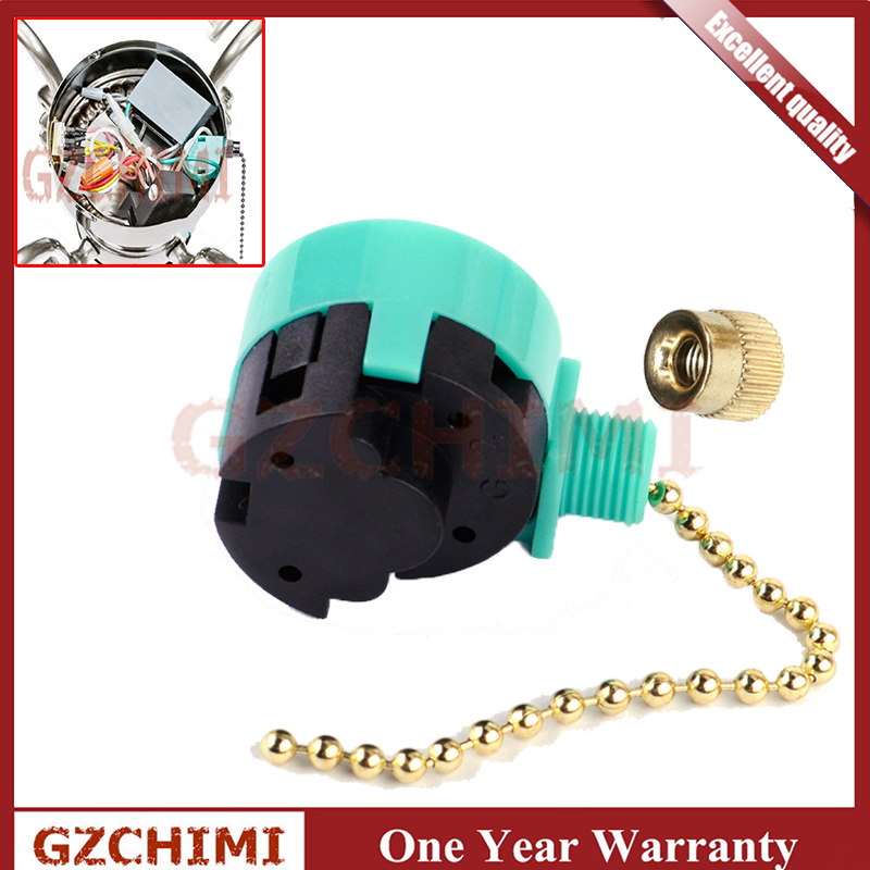 3 Speed Ceiling Fan Switch For Zing Ear ZE-268S6 Pull Chain Cord Switch Use Ceiling Fans Appliances Replacement Speed Control