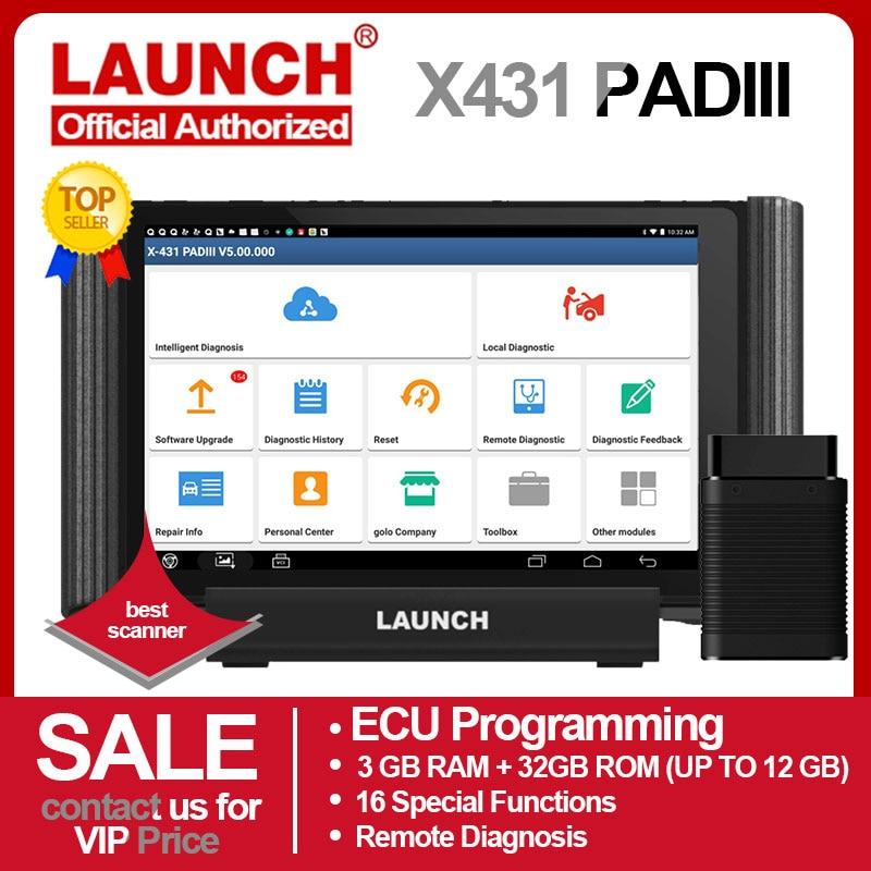 Lançamento x431 almofada iii v2.0 X-431 scanner de diagnóstico automático obd obdii ferramenta de diagnóstico 1000 + software ecu programação carro obd2 scanner