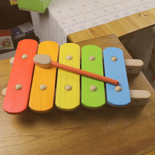 Kirby Wooden Toys Toy Piano Xylophone Children Beat Music Educational Toy