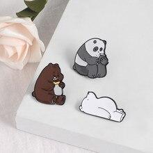 Güzel hayvan emaye pin Delme ayı yağmur çizmeleri domuz Sevimli penguen panda rozetleri broşlar tişört çanta Yaka iğneler Karikatür takı hediye