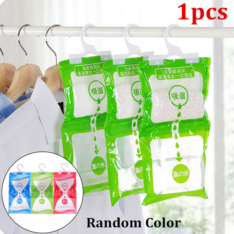 1pcs Desiccant Bag Household Wardrobe Closet Hanging Moisture Absorbent Dehumidifier