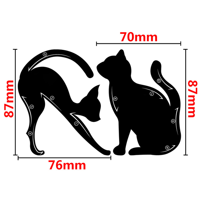 4pcs/lot For 10 Styles Quick Makeup Cat Eyeliner Smokey Eyeshadow Drawing Guide Reusable Stencil for Classic Eye Liner Template 2