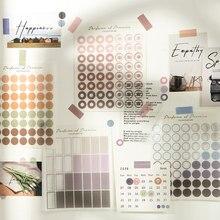 Mohamm 3 hojas de Color Natural de la serie decorativo pegatinas Scrapbooking notas DIY de papel pegatinas escamas papelería de Oficina Accesorios