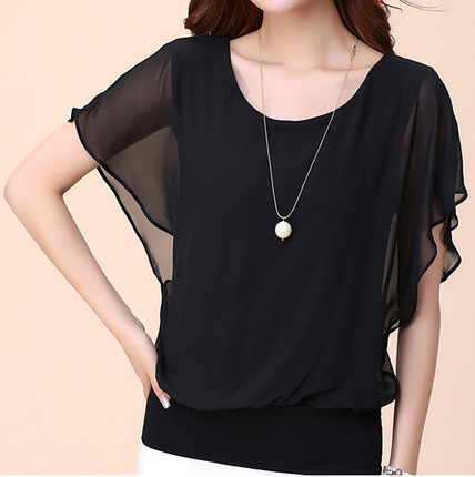 Summer Casual Short Sleeve Women Blouse 5XL Plus Size Chiffon Blouses Beach Shirt Office Work Loose Shirts Blusas Feminina Tops