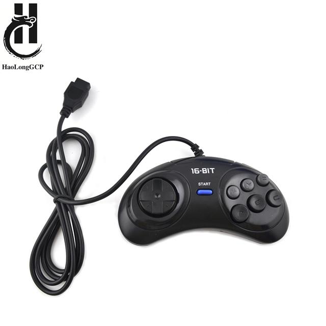Darmowa wysyłka 1 2 sztuk kontroler do gier dla SEGA Genesis 16 bit kontroler uchwytu 6 przycisk Gamepad dla gra z serii SEGA MD Accessoriese tanie i dobre opinie haolonggcp MEGA DRIVE Gamepady MD Gamepad controller