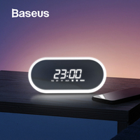 Baseus Night light Bluetooth Speaker With Alarm Clock Function ,Portable Wireless Loudspeaker Sound System For Bedside & Office