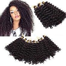 Tresses Afro bouclées au Crochet ombré, 24 brins, Extensions de cheveux Kanekalon, 14 pouces