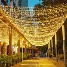 Thrisdar 50M 100M 200M 300M 500M Weihnachten LED String Fairy Licht Hochzeit Im Freien Urlaub Partei fee Girlande String Licht