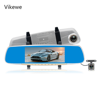 7 inch 1080P car rearview mirror Car Dvr full HD 1080p car driving video recorder camera car reverse image dual lens dash cam