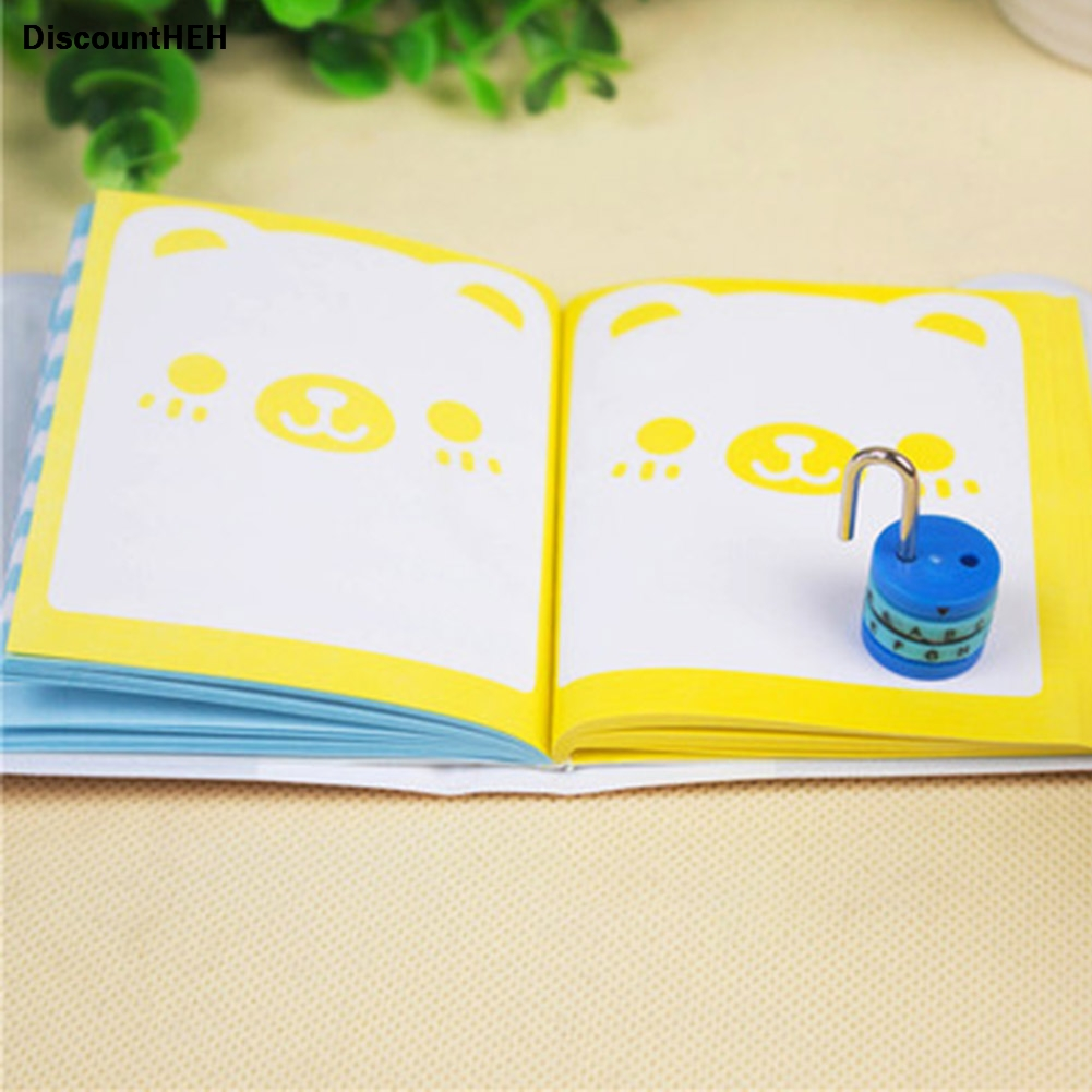 Cartoon Mini Password Lock Notebook Diary Notepad Book Student Stationery Gift Packaging Wholesale