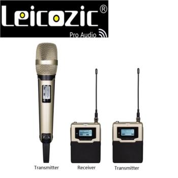 Leicozic DV DSLR Camera Interview System Recording Studio 590-614.75 MHZ 1 Handheld Mic & 1 Bodypack Transmitter & 1 Receiver