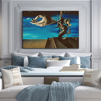 Surrealism Canvas Painting The Hand By Salvador Dali Famous Poster Print Wall Art Picture for Living Room Home Wall Decor Cuadro 5