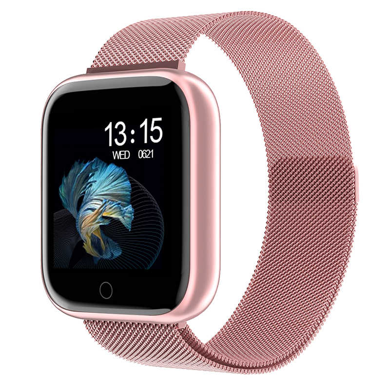 2019 frauen Wasserdichte Intelligente Uhr P70 P68 Plus Bluetooth Smartwatch Für Apple IPhone Xiaomi Herz Rate Monitor Fitness Tracker