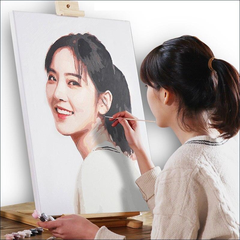 Купить пользовательские фото diy живопись маслом по номерам для портретной