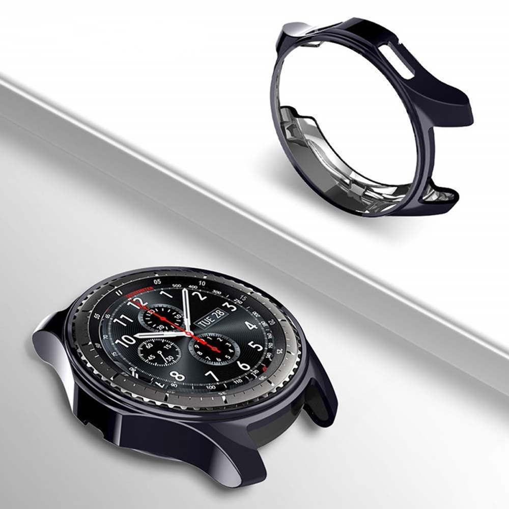 Case For Samsung Gear S3 frontier 22mm 20mm smart watch accessories Galaxy Watch band 46mm 42mm plating TPU Protective Cover