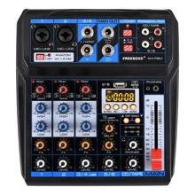 Freeboss AM PSM DC 5V 전원 공급 장치 USB 인터페이스 6 채널 2 모노 2 스테레오 16 효과 오디오 믹서