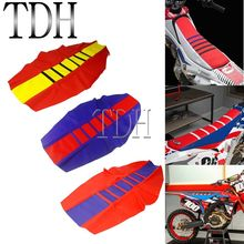 Универсальный ребристый чехол на сиденье для мотокросса Honda XR650 CRF 250R 450R Yamaha Suzuki Gas DRM RMZ WR YZ TTR 250 450 125