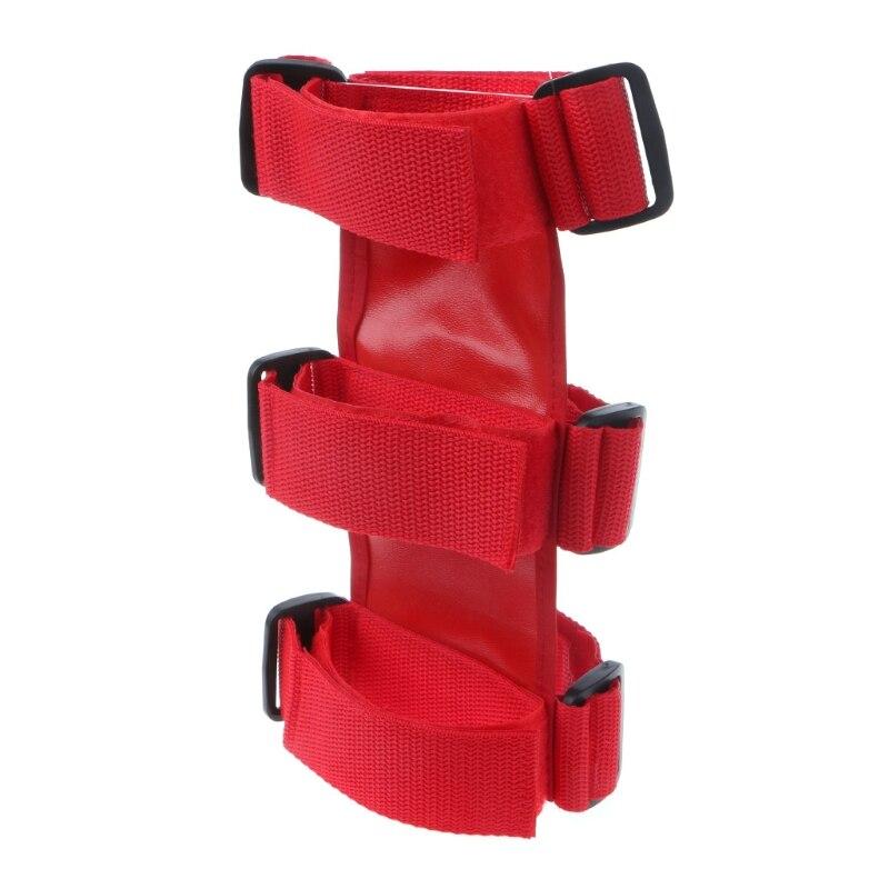 1 шт., Mayitr, красный, черный Автомобильный рулон, огнетушитель, авто фиксированный держатель, автомобильный Стайлинг для автомобиля, безопасность салона, нейлоновые ремни