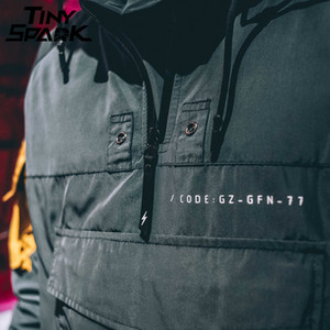 Image 5 - ซิปครึ่งเสื้อผู้ชายเสื้อใหม่ 2020 ฤดูใบไม้ร่วงHip Hop Hoodedแจ็คเก็ตกระเป๋าด้านหน้าWindbreakerสบายๆHoodie Streetwear Harajuku