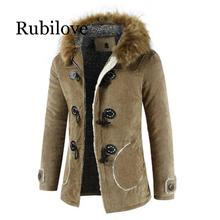 Rubilove men jackets high quality cotton casual coat  large plus size M-4XL