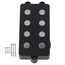 Noiseless Good Balance 4 String Bass Humbucker Double Coil Pickup Black For Bass Guitar gibson eb bass 4 string t 2017 natural satin
