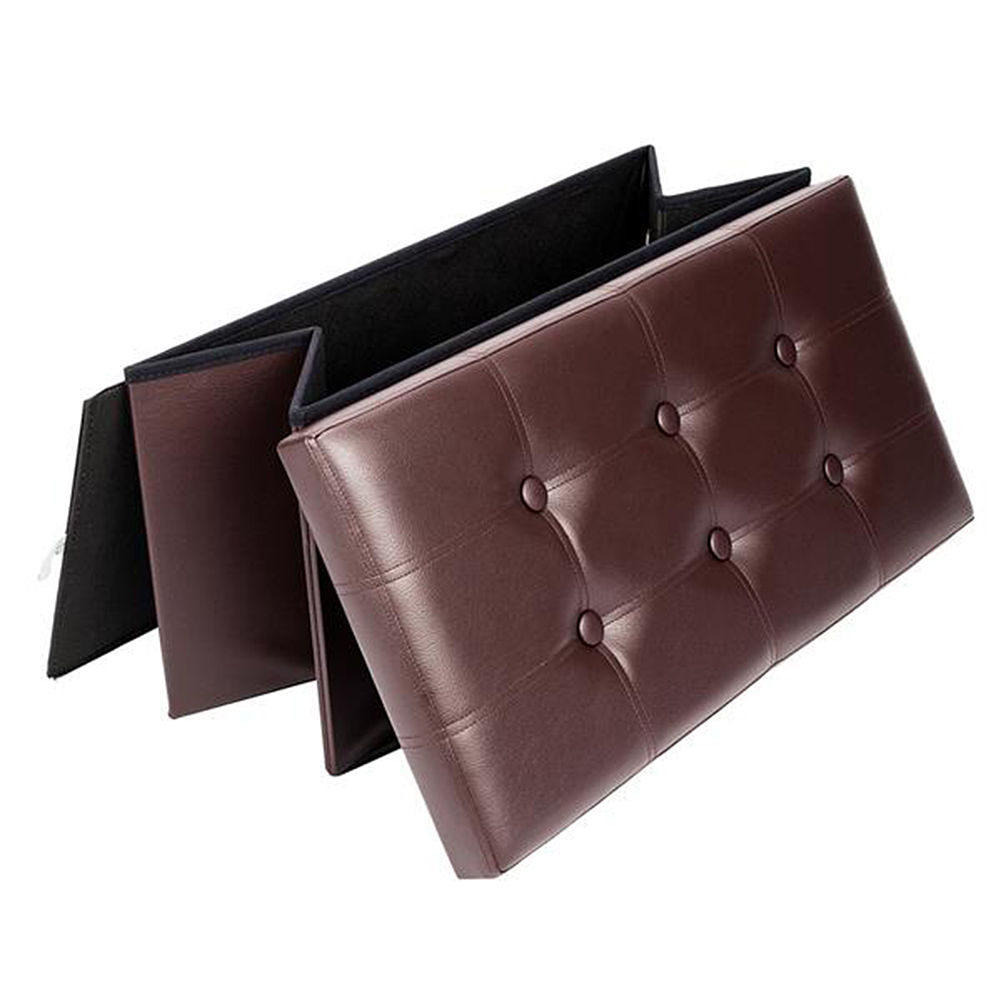 Portable Storage Concise Shoe Stool Type Sofa Bench Storage Household Rectangle Stool PVC Leather Footstool Home Furniture