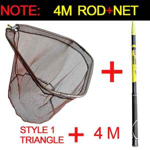 Fishing-Net Telescopic-Pole-Handle Durable-Mesh JOSBY Collapsible 3m 4m High-Quality