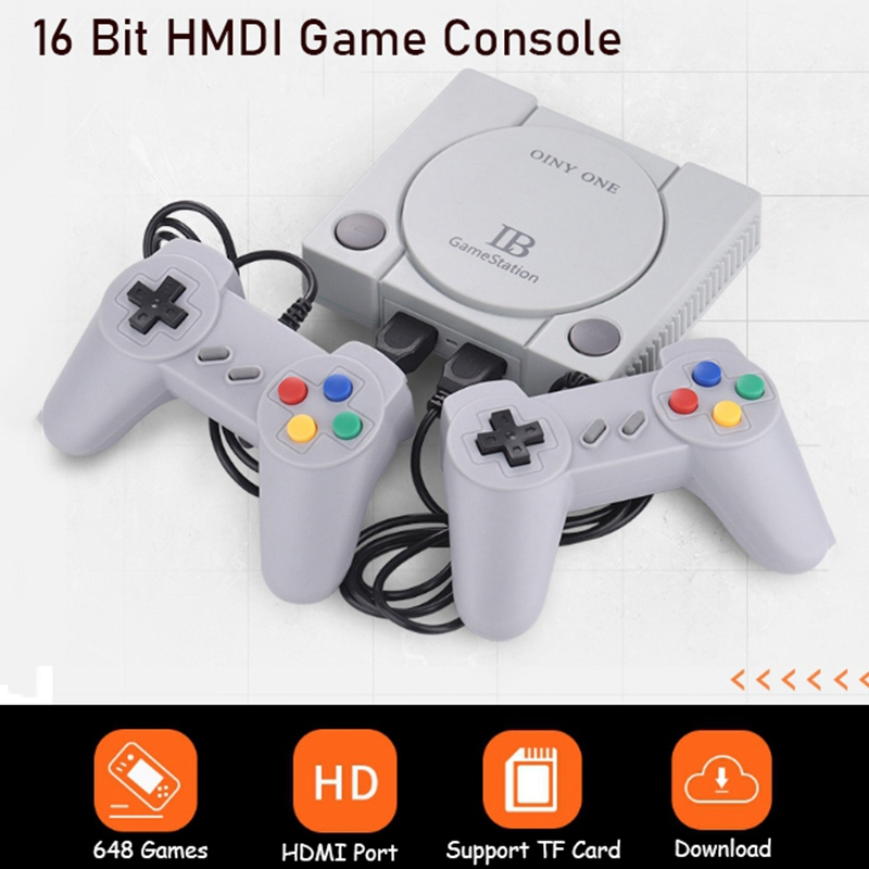 RS-70 Mini HDMI Household TV Game Console NES Sega FC 16 Bits Family Game Host Bulit-in 648 Games With 2 Controllers Gamepads