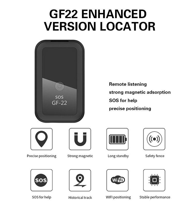 Новинка 2021, GF22, автомобильный GPS-трекер, Сильный магнитный небольшой локатор для отслеживания местоположения для автомобиля, мотоцикла, гру...