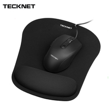 TeckNet Ergonomic Gaming Office Mouse Pad Mat Mousepad with Gel Rest Wrist Support Non-Slip Rubber Base Special Textured Surface premium new office lycra cloth mousepad with gel wrist support ergonomic gaming desktop mouse pad wrist rest