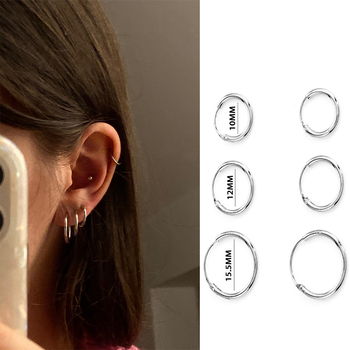 3 Pair/Set Classic Fashion Women Girl Simple Sliver Gold Color Round Circle Small Ear Stud Earring Punk Hip-hop Earrings Jewelry