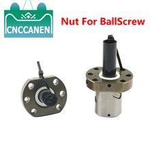 חוזק גבוה Ballscrew אגוז 12mm 16mm 20mm 25mm 32mm כדור בורג פחמן פלדה RM1204 1604 1605 1610 2005 2505 SFU3205 אוגן אגוז
